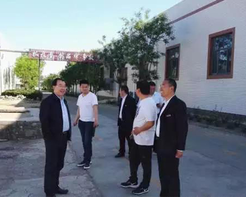 Wang Jinshan, member of the Standing Committee of Zunhua Municipal Committee and executive deputy mayor, inspected the companys Gan Liren deep processing and cold storage new project